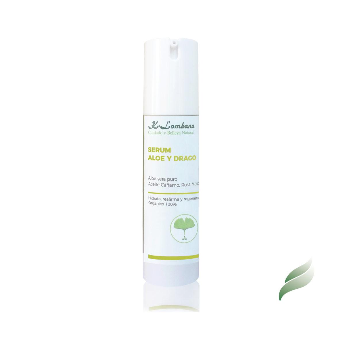 serum-aloe y drago. Muy hidratante, regenerador celular, reafirmante y antiarrugas. 25% Aloe vera gel puro