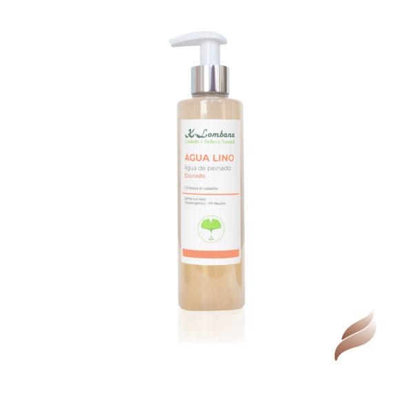 Agua Lino Dorado Magnífico acondicionador diario del cabello,limpia, suaviza, marca el rizo y elimina el encrespamiento,