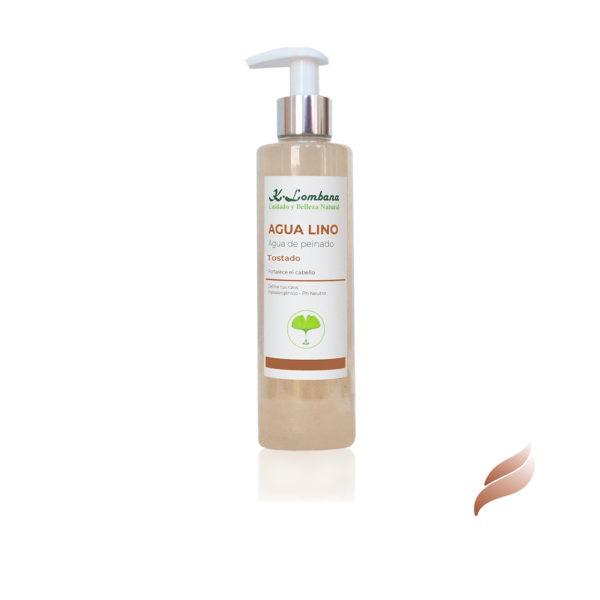 Agua Lino Tostado Magnífico acondicionador diario del cabello,limpia, suaviza, marca el rizo y elimina el encrespamiento,