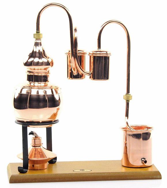 alambique destilación