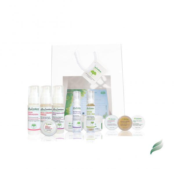 cesta regalo Conjunto productos naturales, limpieza, hidratación, nutrición, labios, manos