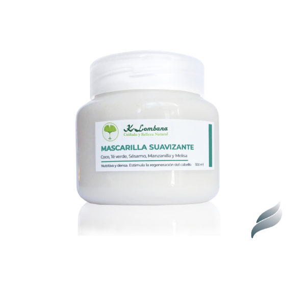 Mascarilla suavizante Crema suavizante muy nutritiva. Estimula crecimiento y regeneración del cabello. Aguacate Argán. Manteca Coco Karité.